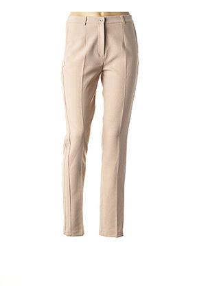 Pantalon casual beige MULTIPLES pour femme