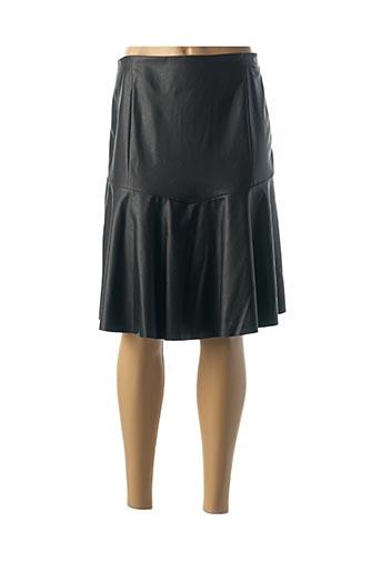 Jupe mi-longue noir MULTIPLES pour femme