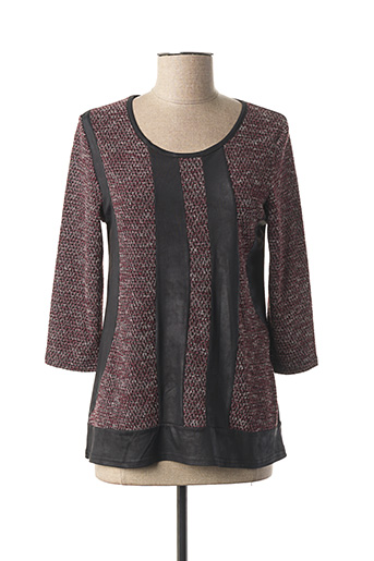 Pull col rond rouge MULTIPLES pour femme