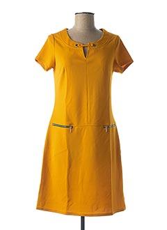 Robe mi-longue jaune MULTIPLES pour femme