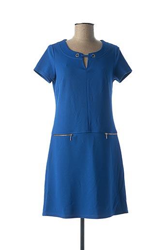 Robe mi-longue bleu MULTIPLES pour femme