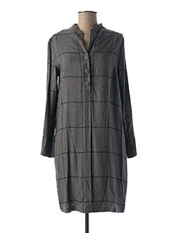 Robe mi-longue gris GR NATURE pour femme