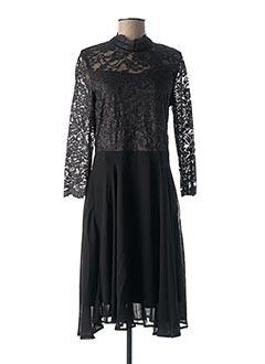 Robe mi-longue noir KAFFE pour femme