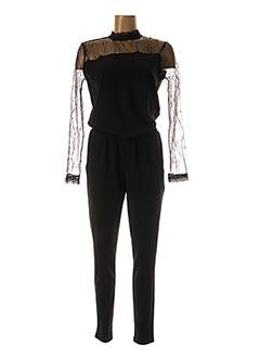 Combi-pantalon noir KAFFE pour femme