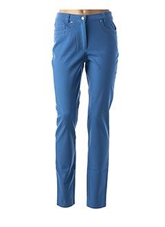 Pantalon casual bleu FABER pour femme