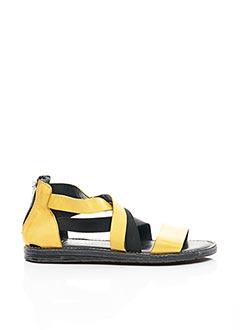 Sandales/Nu pieds jaune CHACAL pour femme