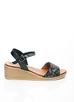Sandales/Nu pieds noir AMELIE BY MESS pour femme
