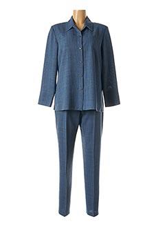 Veste/pantalon bleu CHRISTINE LAURE pour femme