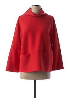 Pull col châle rouge GR NATURE pour femme