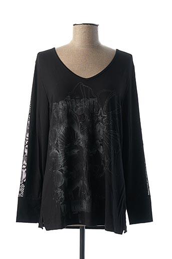 T-shirt manches longues noir DOLCEZZA pour femme