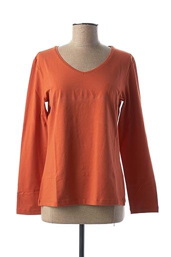 T-shirt manches longues orange DOLCEZZA pour femme