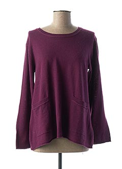 Pull col rond violet MASAI pour femme