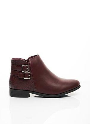 Bottines/Boots rouge C'M PARIS pour femme