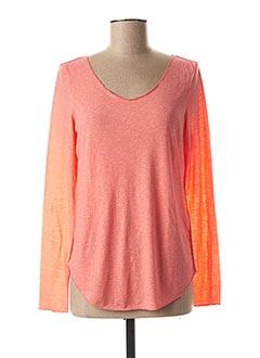 T-shirt manches longues rose VERO MODA pour femme