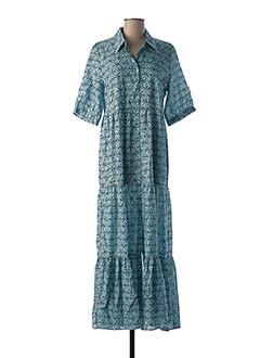 Robe mi-longue bleu AN' GE pour femme