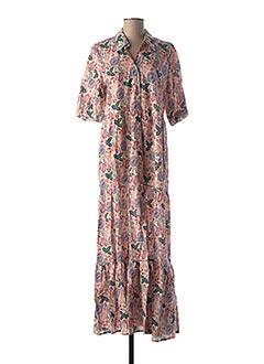 Robe mi-longue rose AN' GE pour femme