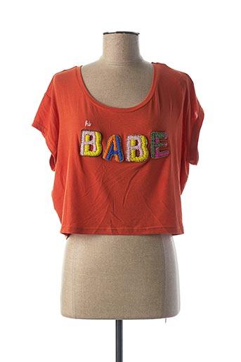 T-shirt manches courtes orange AMENAPIH pour femme