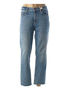 Jeans coupe droite bleu NVY DENIM pour femme