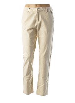 Pantalon casual beige VERO MODA pour femme