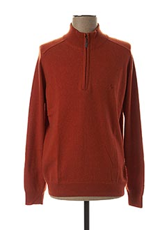 Pull col cheminée orange STOZZI ADRIANO pour homme