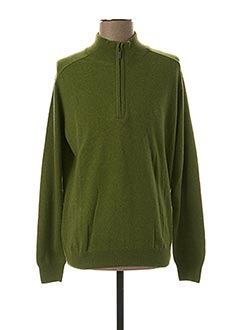 Pull col cheminée vert STOZZI ADRIANO pour homme