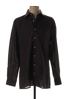 Chemise manches longues noir OLYMP pour homme