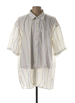 Chemise manches courtes blanc OLYMP pour homme