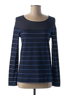 T-shirt manches longues bleu ONE STEP pour femme