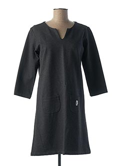 Robe courte gris DIPLODOCUS pour femme