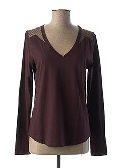 T-shirt manches longues violet IKKS pour femme