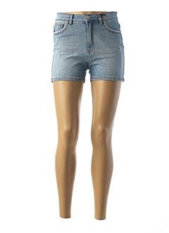 Short bleu IKKS pour femme
