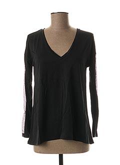 T-shirt manches longues noir LOLA ESPELETA pour femme