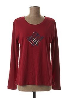 T-shirt manches longues rouge THALASSA pour femme