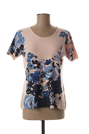 Pull col rond rose DAMOD pour femme