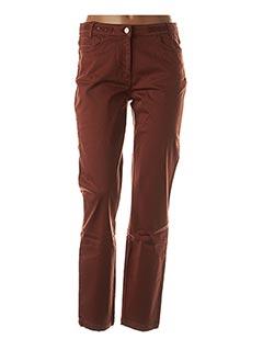 Pantalon casual marron THALASSA pour femme
