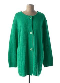 Gilet manches longues vert LE PETIT BAIGNEUR pour femme