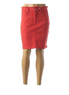 Jupe courte rouge C'EST BEAU LA VIE pour femme