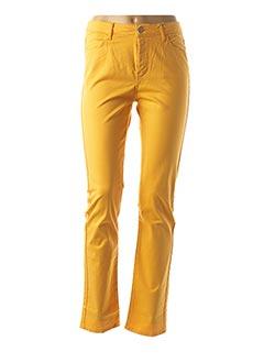 Pantalon casual jaune KANOPE pour femme