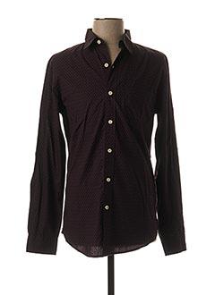 Chemise manches longues violet DOCKERS pour homme