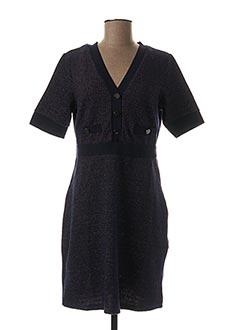 Robe mi-longue bleu JUS D'ORANGE pour femme