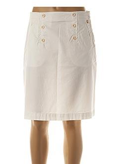 Jupe mi-longue blanc ARMOR LUX pour femme