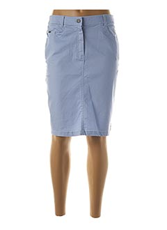 Jupe mi-longue bleu FELINO pour femme