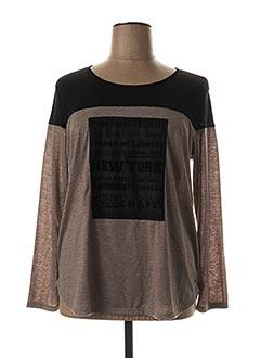 T-shirt manches longues beige FELINO pour femme