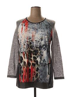 T-shirt manches longues gris MERI & ESCA pour femme