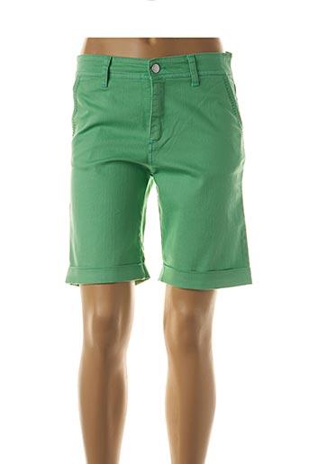 Bermuda vert COWEST pour femme