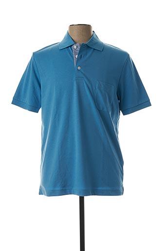 Polo manches courtes bleu MARVELIS pour homme