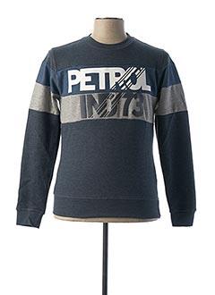 Sweat-shirt bleu PETROL INDUSTRIES pour homme