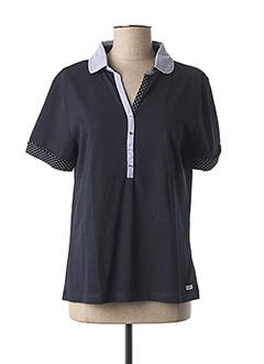 Polo manches courtes bleu SABLE ET MER pour femme
