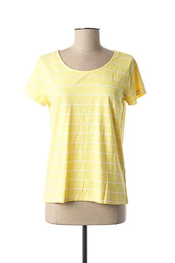 T-shirt manches courtes jaune C'EST BEAU LA VIE pour femme