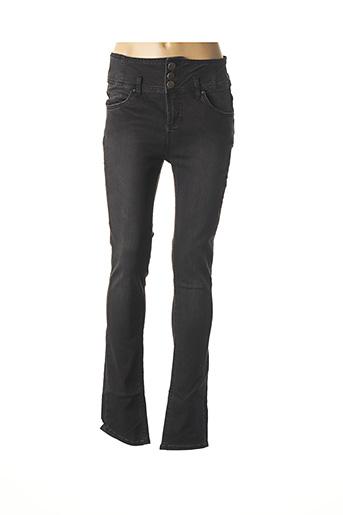 Jeans coupe slim noir B.YOUNG pour femme